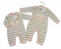 """*BIS1735P, """"Nursery Time"""" Brand Baby Knitted Romper (OUT OF STOCK) £8.35.  pk6..."""
