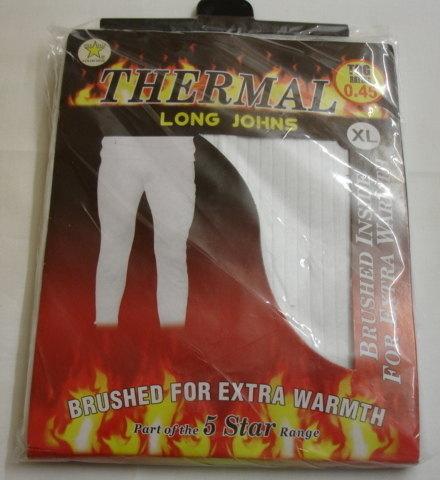 Mens white thermal long john £1.45.  pk6....
