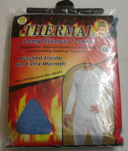 *Mens blue long sleeve thermal t shirt £1.95.  PK6...