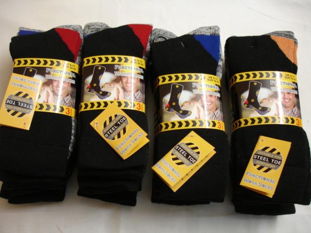 FWS1000, Mens 3 in a pack heavy duty wool blend functional work socks £1.99