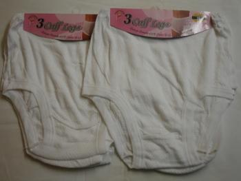 CL1, Ladies 3 in a pack eyelet cuff leg briefs £2.10. 1 dozen.......