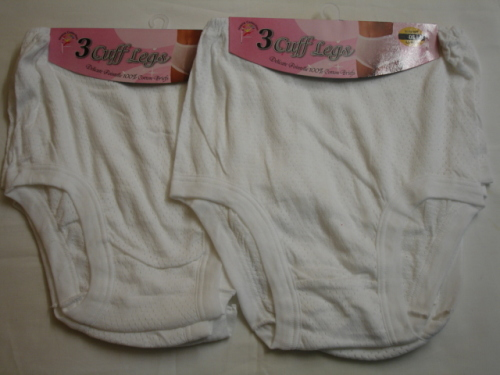 CL1, Ladies 3 in a pack eyelet cuff leg briefs £2.10. 1 dozen.......
