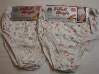 *R1CP, ladies cream printed full briefs.  1 dozen...