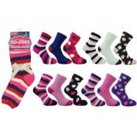 """Code:3270, Ladies """"Co-Zees"""" soft & cosy dark assorted socks... 1 dozen..."""
