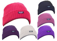 RS244, Ladies rib hat with thermal insulation £1.15.  pk12...