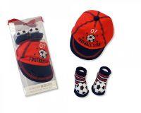 "GP0711, ""Nursery Time"" Brand Baby Boys Cap and 3d Socks Set £3.95.  6PKS..."