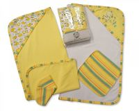 "BW099L, ""Nursery Time"" brand Baby Hooded Towel and Wash Cloth Set (2 Hooded Towels, 2 Wash Cloths) £4.75.  pk3.."