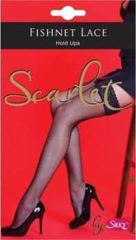 "Code:W6, ""Scarlet"" range Fishnet Lace Top Hold Ups £1.95.  pk6......"
