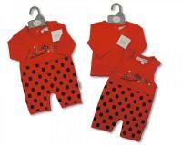 "BIS1447, ""Nursery Time"" brand baby cotton 2 pcs set with ""Ladybird"" theme £4.50. pk12.."