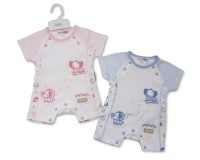 "BIS1581, ""Nursery Time"" brand baby romper with ""Elephant"" design detail £4.20.  pk12..."