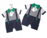 "BIS1674, ""Nursery Time"" brand baby boys cotton one piece set £4.75.  pk12..."