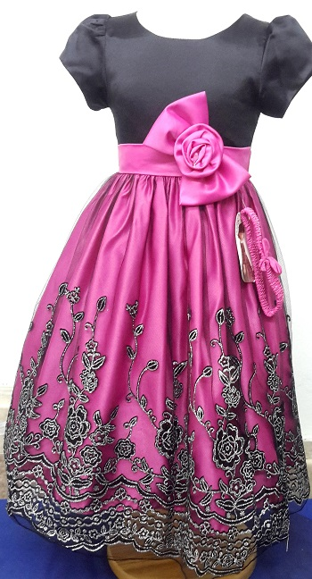 333FUCHSIA, A beautiful girls party dress with matching hair band £9.50.  p