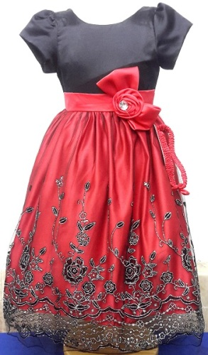 333RED, A beautiful girls party dress with matching hair band £9.75.  pk8....