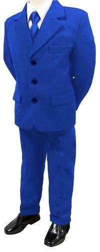 N16, Boys 5 piece blue suit- shirt, jacket, trouser, waistcoat & tie...