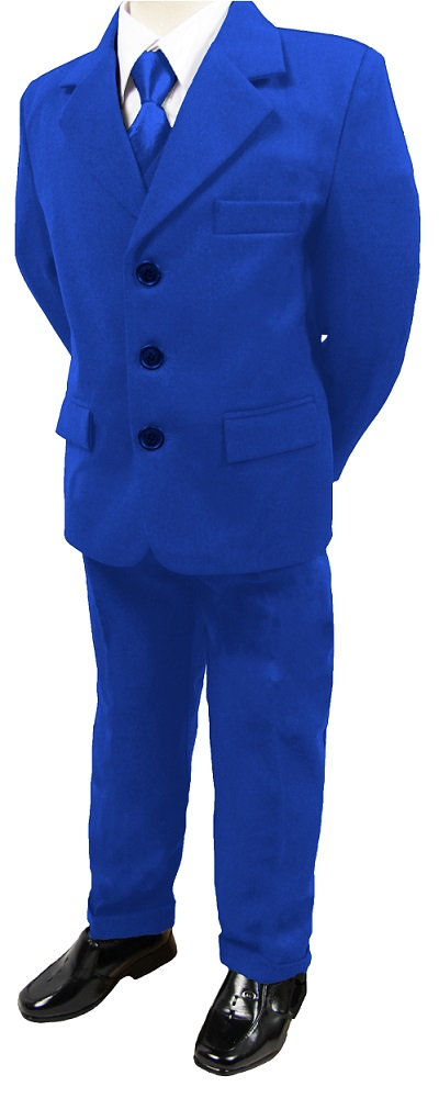 N16, Boys 5 piece blue suit complete with shirt,jacket,trouser,waistcoat &