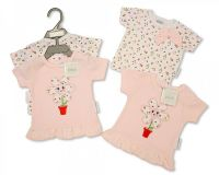"BIS1815, ""Nursery Time"" Brand Baby Girls 2-Pack T shirt - Strawberry £3.30. 6pks.."