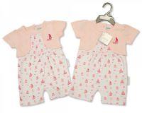 "BIS1827, ""Nursery Time"" Brand Baby Girls Romper - Little Sailor £4.50.   pk6.."