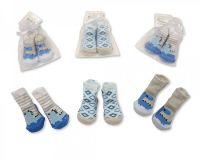 "*BW2155, ""Nursery Time"" Brand Baby Boys Socks in Mesh Bag £0.50.  pk12.."