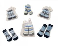 "*BW2154, ""Nursery Time"" Brand Baby Boys Socks in Mesh Bag £0.50. pk12.."