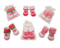 "*BW2153, ""Nursery Time"" Brand Baby Girls Socks in Mesh Bag £0.50.  pk12.."