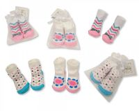 "*BW2152, ""Nursery Time"" Brand Baby Girls Socks in Mesh Bag £0.50.  pk12.."