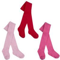45B116, Baby girls cotton rich plain tights £1.10.  pk18...
