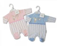 """BW0130, """"Nursery Time"""" Brand Baby Velour All In One £3.95.  pk12.."""