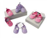 "BSS429, ""Nursery Time"" Brand Baby Shoes - Girls £2.50.  pk8.."