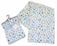 "BW946S, ""Nursery Time"" Brand Baby Wrap Hearts - Sky £3.00.  pk3.."