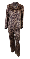 LNW0399, Ex M_S Ladies Animal Print Satin Pyjama Set £5.75. pk12..