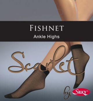 """SL68, """"Silky"""" Brand Fishnet Ankle Highs £0.70.  pk6.."""
