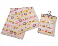 "BW864P, ""Nursery Time"" Brand Baby Girls Wrap - Animals £4.20.  pk2.."