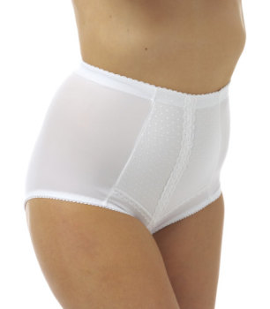 "MAK12, ""Marlon"" brand ladies firm control mesh panel brief £2.55.  pk12.."
