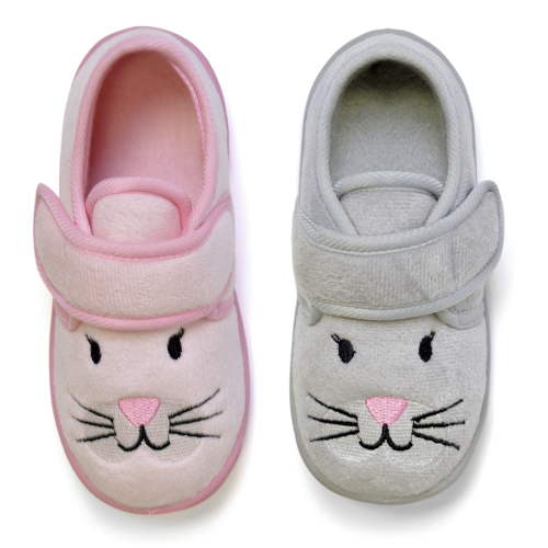 FT1230, Kids slippers with animal detail as shown £2.30.  pk24...