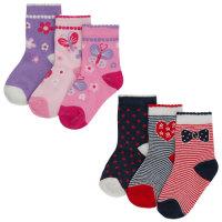 44B711, Baby girls 3 in a pack cotton rich design socks £1.10.   24pks...