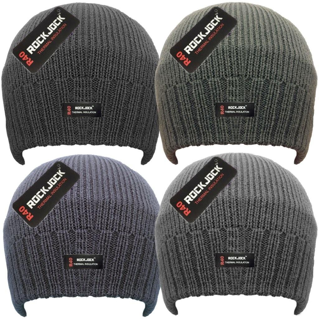 HAI704R, Men's Beanie Hat with Rockjock R40 Thermal Insulation £0.95.  pk12