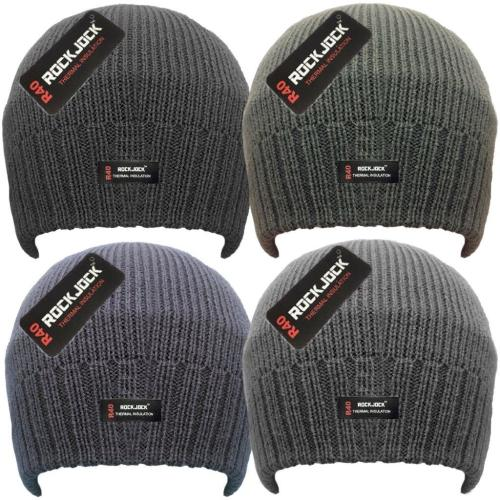 HAI704R, Men's Beanie Hat with Rockjock R40 Thermal Insulation £1.10.  pk12..