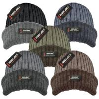 HAI612R, Men's Hat with Melange Turn up & Rockjock R40 Thermal Insulation £1.25.  pk12....