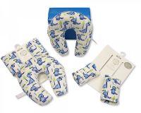 "BW953S, ""Nursery Time"" Brand Baby Neck Cushion and Seat Belt Pads Travel Set - Boys £2.50.  6pks..."