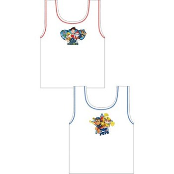 """Code:27213, Official """"Paw Patrol"""" boys 2 in a pack vests £1.90. 18pks.."""