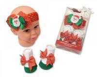 "GP0746, ""Nursery Time"" Brand Baby Headband and Socks Set - Santa £3.00.  pk6.."