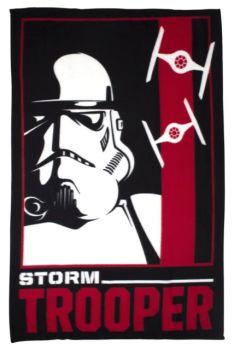 "STW5523, Official ""Star Wars""""Storm Trooper"" Fleece Blanket £3.95.  pk6"