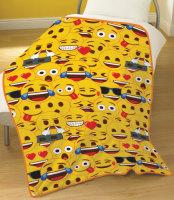 "EMJ8076, Official ""Emoji""Yellow"" Fleece Blanket £3.95.  pk6"