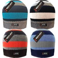 HAI797R, Boys striped beanie hat with R40 thermal insulation £1.00.  pk12..