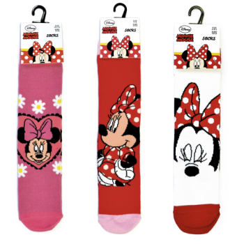 """MIN402, Official Disney """"Minnie Mouse"""" girls socks £0.65.   17 pairs....."""
