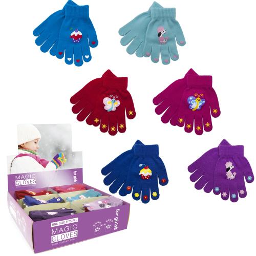 GL098CDU, Girls magic gripper gloves in a display box £0.59.  pk48..