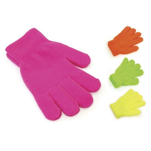 GL102, Kids Neon Magic Gloves £0.42.  pk12..