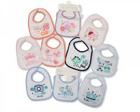 "BW640A, ""Nursery Time"" brand baby 5pk bibs with PEVA back £1.60.  12pks.."