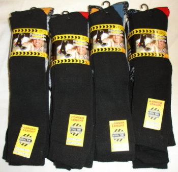 """SE193, Mens long hose """"functional"""" work socks. 1 dozen..."""