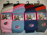 RH101, Ladies 3 in a pack thermal socks £1.13. 1 dozen...